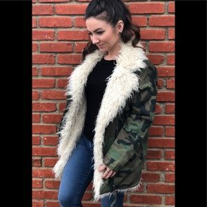 Top shop Jake Camouflage Jacket-Women's